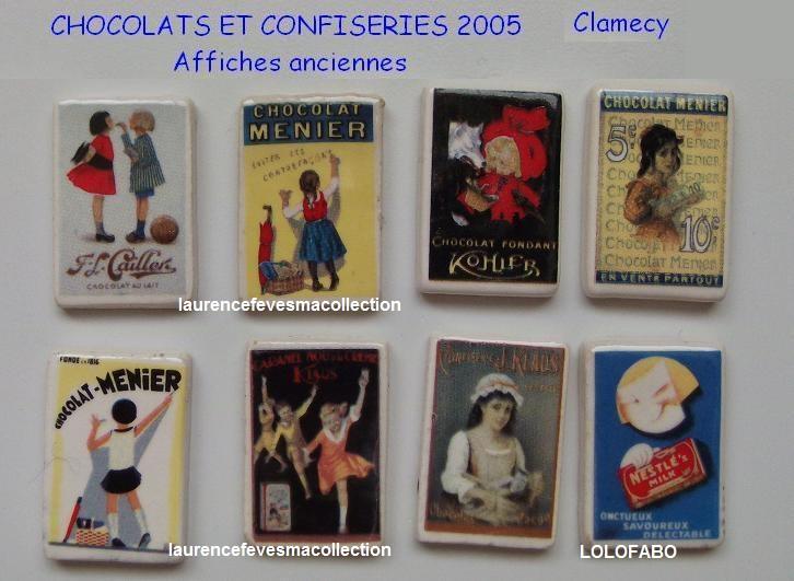 2005p60 cl217 x chocolats et confiseries affiches anciennes clamecy 05p60