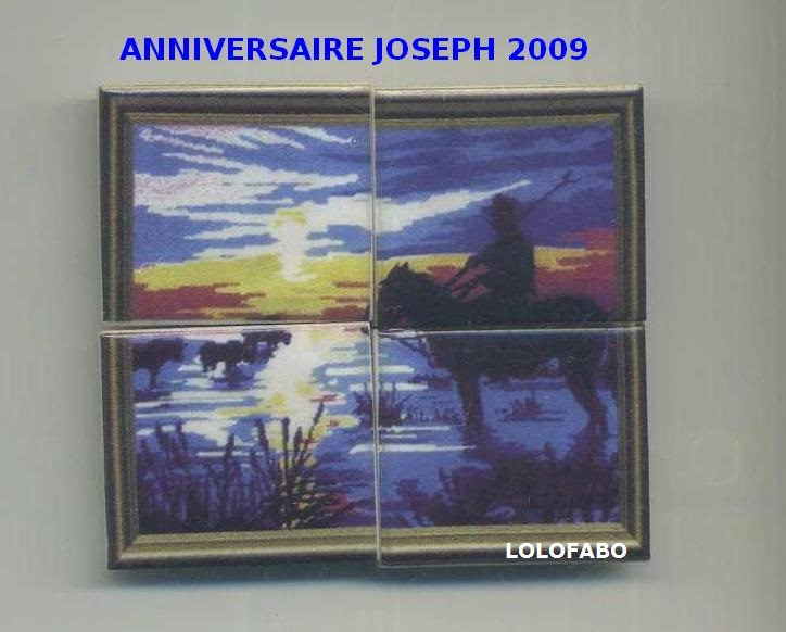 2009 anniversaire.joseph.puzzle.2009